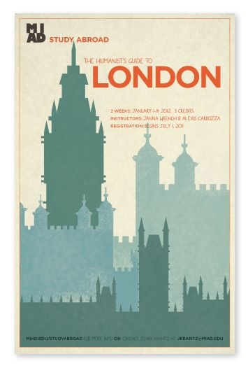 MIAD Study Abroad Poster series - London | Study abroad ...