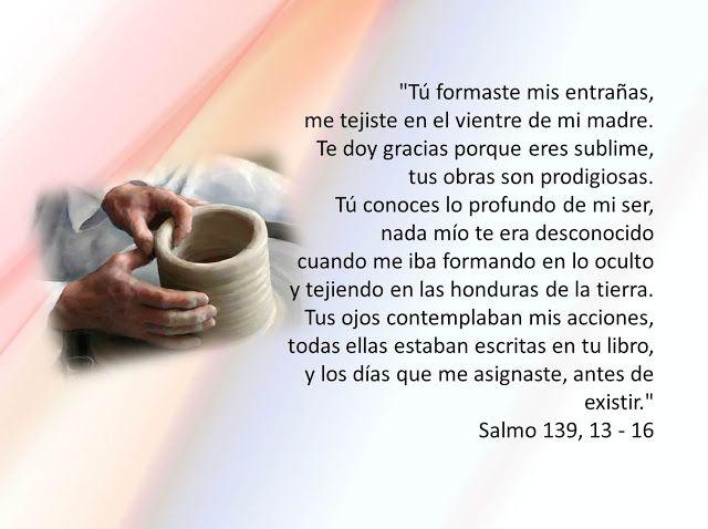 LEGION DE LAS PEQUEÑAS ALMAS: SALMO 139,13-16