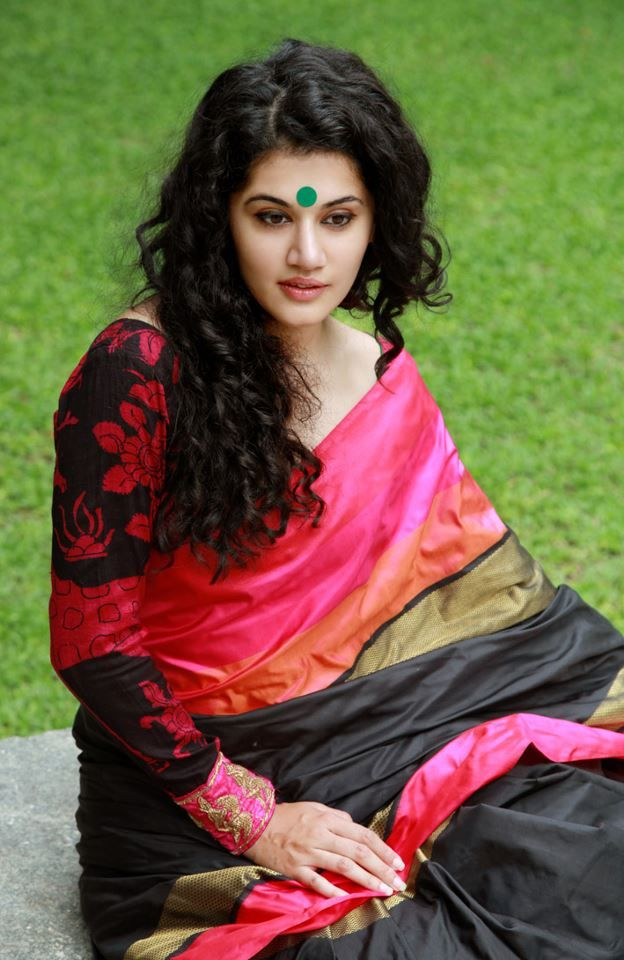 Gaurang Sarees...the pink and black is beautiful