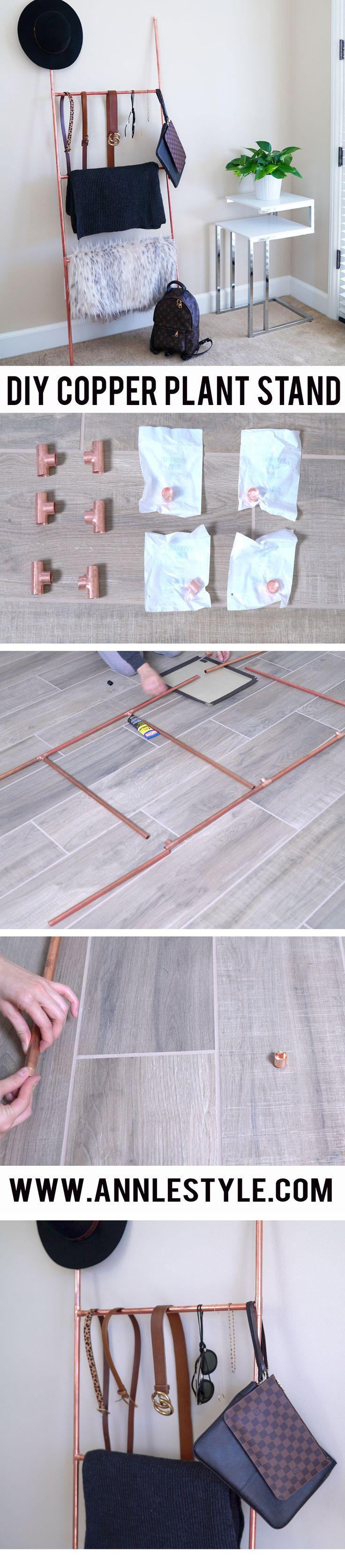 DIY Copper Ladder Accessory Stand | Home Decor