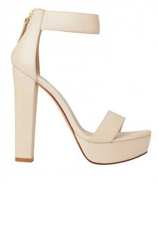 Lipstik Shoes - Believer Heel - Bone; from Peppermayo. Want these in white!