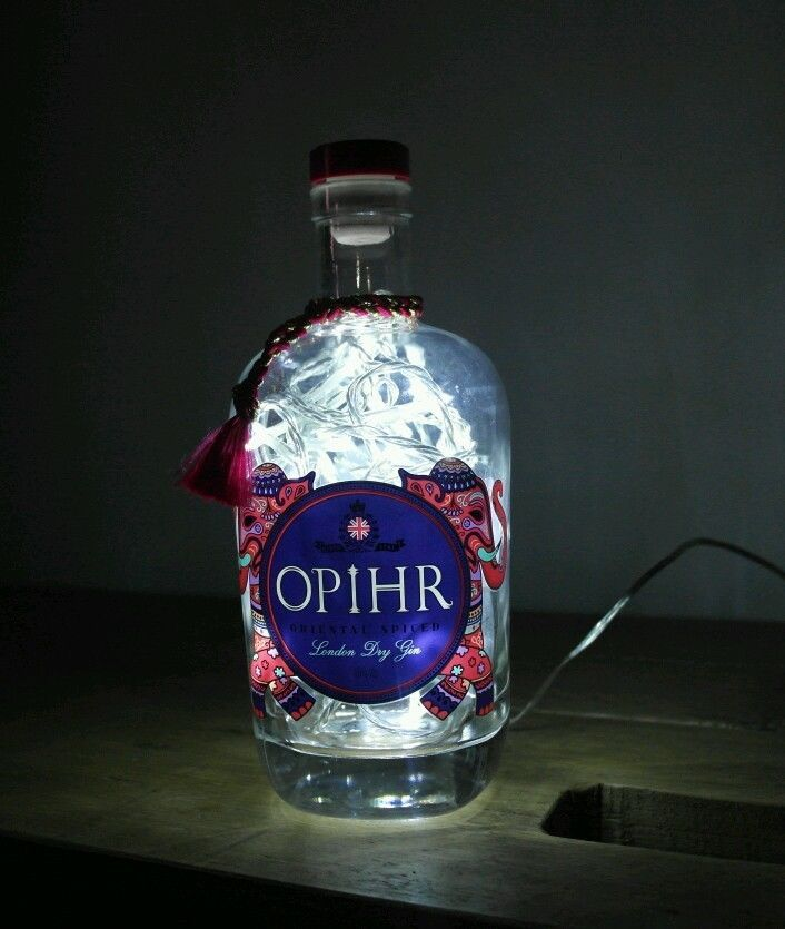 Upcycled Modern Cool Opihr Gin Bottle Lamp Retro Rare - by iluvlamp | eBay
