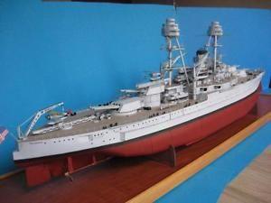 Modelik 29/10 - US Battleship USS OKLAHOMA (1930)  scala 1:200 with Lasercut | eBay