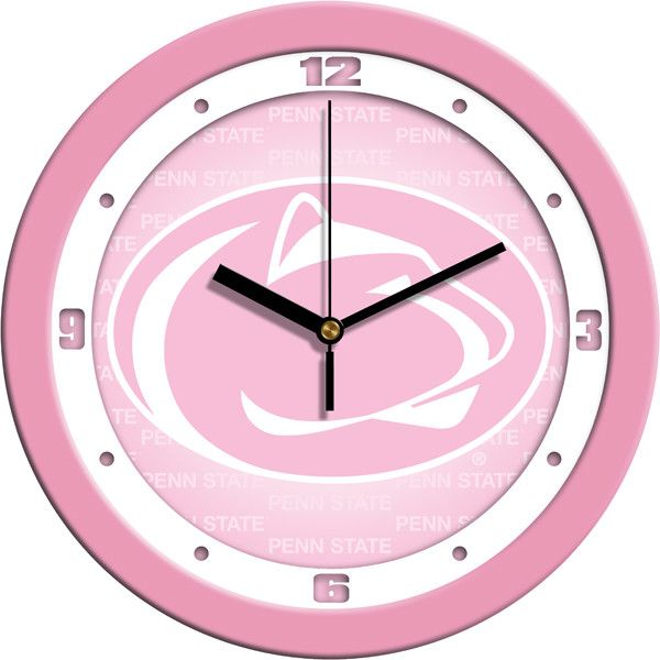 Pink Wall Clock by Suntime Demonstrate your team spirit in your home or office with your favorite college logo. These 11.5 inch Pink Wall Clocks feature a battery-powered (1xAA battery included) quart