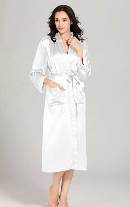 White Mulberry Silk #Robes For Women. $196
