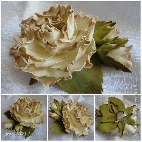 Флористика искусственная Моделирование конструирование Цветы из фома Фоамиран фом фото 3