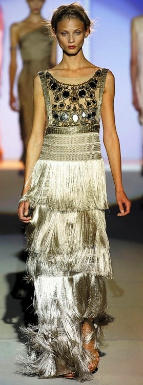 shimmering taupe with jeweled top...i love this but would have no where to wear it!  lol