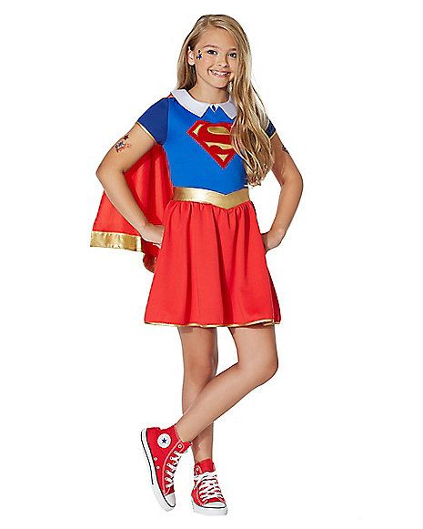 Kids Supergirl Costume - DC Girls - Spirithalloween.com