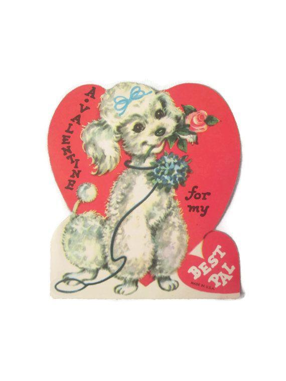 Valentine S Day Vintage Toys : Valentine s day card poodle bing images poodles
