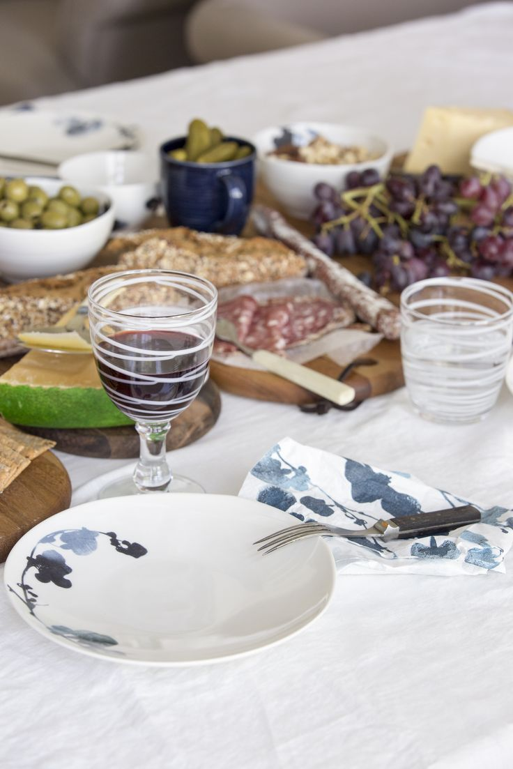 Usva Plate | Pentik | Designer Liina Harju created the Usva pattern, which depicts a silhouette of sorrel. The 21 cm Usva plate is great for serving desserts. It is also a nice bread plate. Tableware can look delicious too!