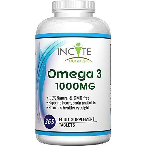 Omega 3 Erg�nzung 1000MG hochwirksame 365 weiche Kapseln (1 Jahresvorrat) GELD-ZUR�CK-GARANTIE Hergestellt im Vereinigten K�nigreich - Kurbelt das Immunsystem an, unterst�tzt Gelenke und gesunde Haare - Fisch�l/Lebertran - DHA + EPA -Omega 3 6 9 - Omega 3 Fetts�uren - Hergestellt im Vereinigten K�ni