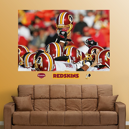 Washington Redskins Helmets In Your Face Mural