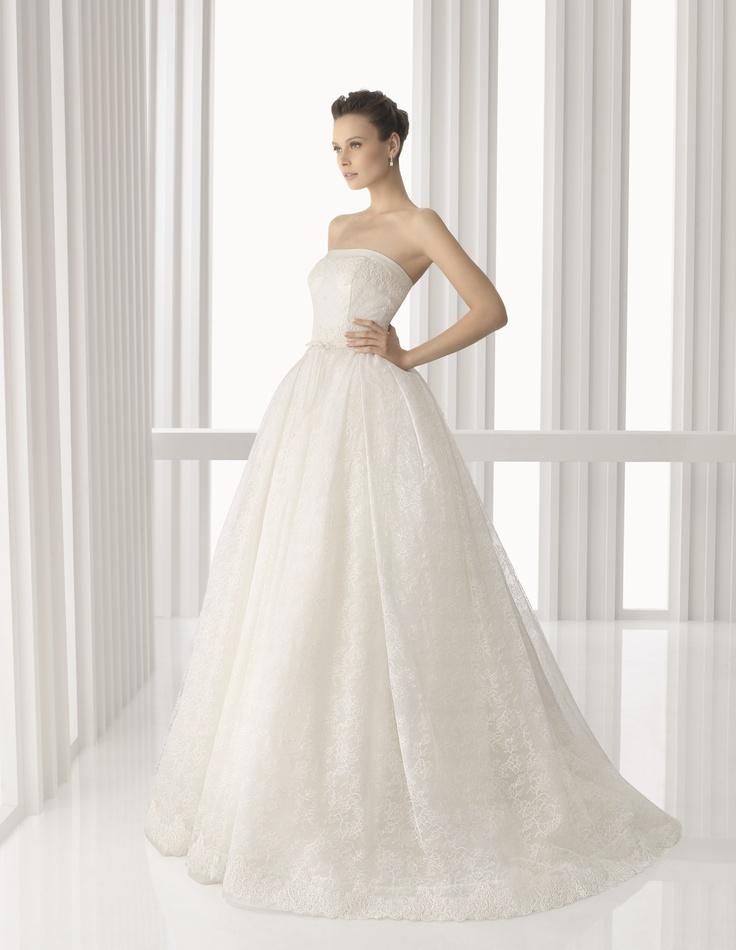 Stunning Modelo America de Rosa Clar America model Rosa Clar Strapless Wedding DressesDress