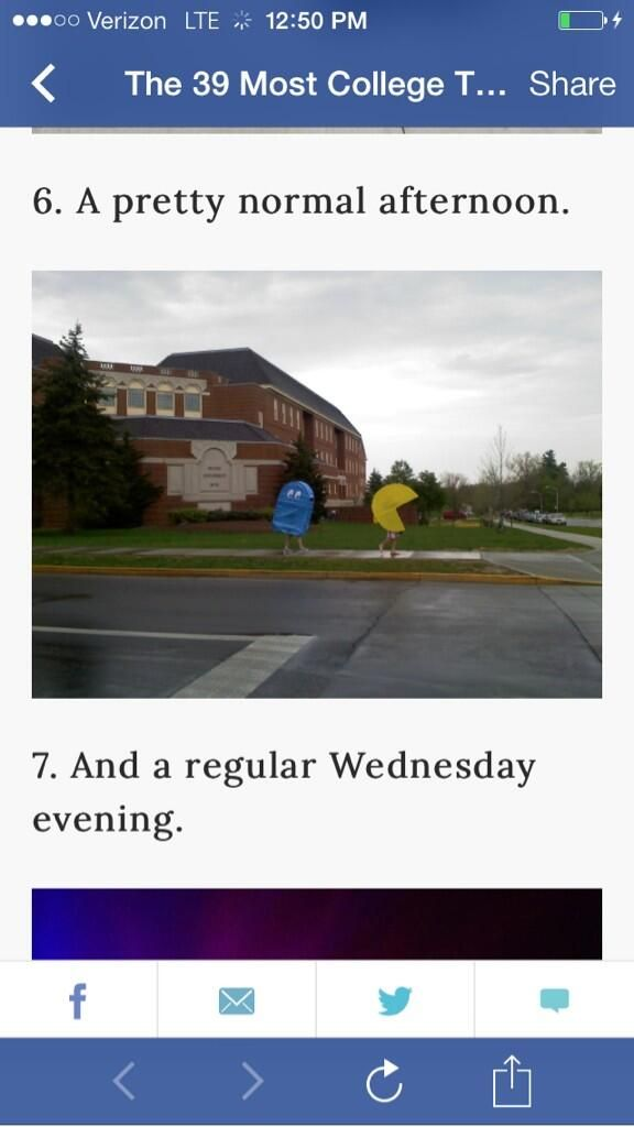 """On the list of the """"39 Most College Things to Ever Happen"""" I recognize the campus on #6"""