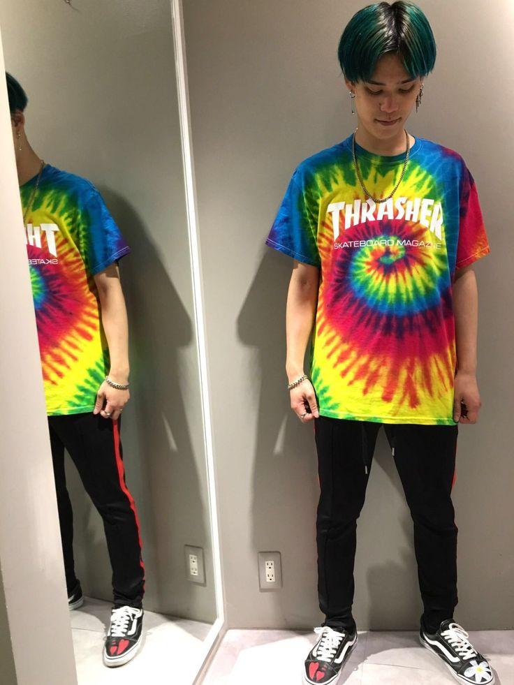 THRASHER/スラッシャー New Arrival!!! この夏、このTHRASHERのTシャツ1枚で目立つこと間違いなしです!! 種類は2種類あり、サイズもS、M、L、XLで展開しており、 女性の方も男性の方も着れます!  model 174cm Lサイズ着用