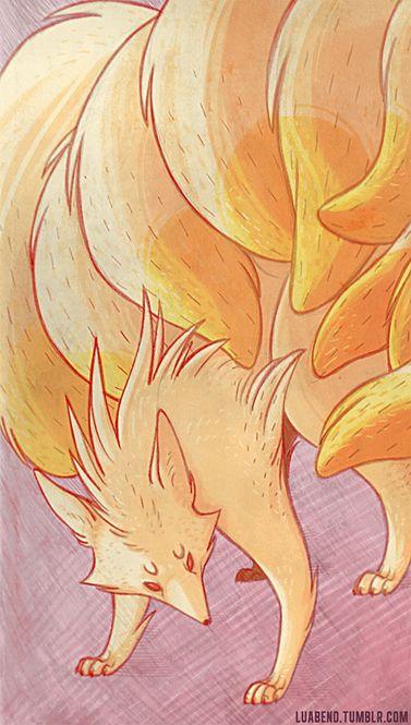 luiza abend illustration #pokemon #ninetales #fox #kitsune