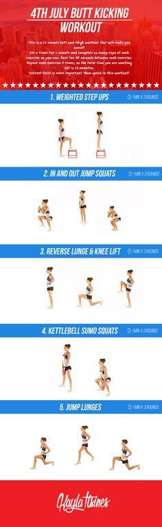 4th July Butt Kicking Workout! – Kayla Itsines