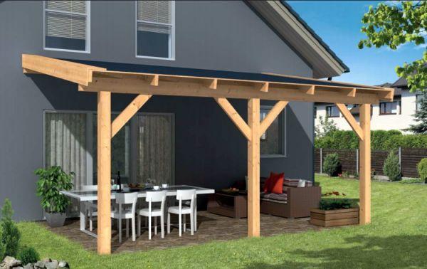 Aanbouw veranda easy lariks douglas fijnbezaagd hout in 10 for Kosten veranda