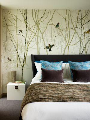 Yatak Odası ve duvar kağıdı