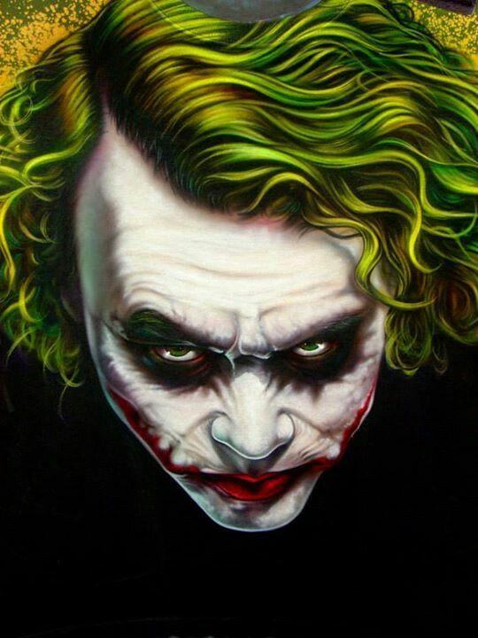 Airbrush joker design #joker #heath ledger   Art