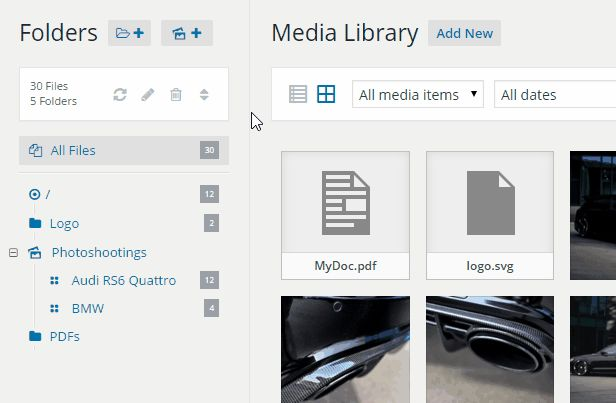 WP Real Media Library organise your #photos in #wordpress media folder. No more  #designfinds