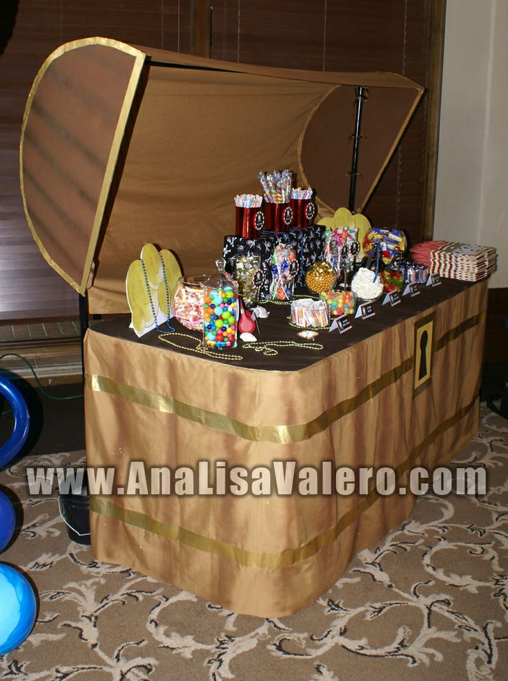 Treasure Chest Candy Table Aladdin Party Pirate