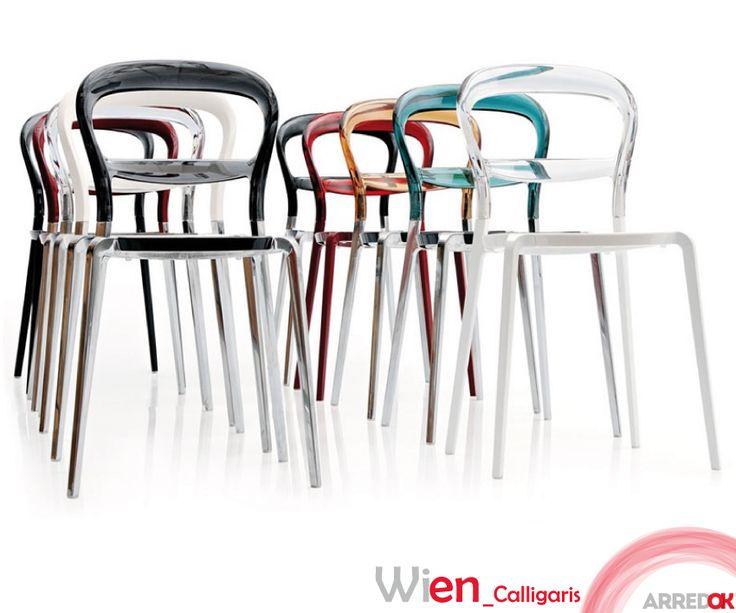 #WienbyCalligaris è una #sedia di design che reinterpreta le forme classiche della celebre #sediaThonet. La trasparenza della sedia Wien dona una grande sensazione di leggerezza, ideale per gli ambienti piccoli. http://arredok.com/sedia-wien-calligaris.html — presso www.arredok.com.