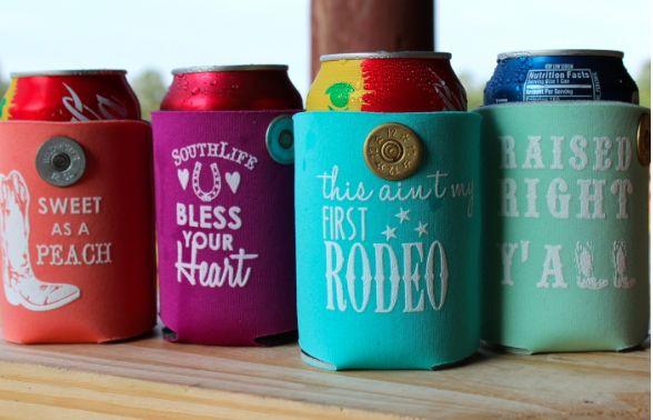 Shotshell koozies - cute southern sayings from www.cowgirlshine.com $8