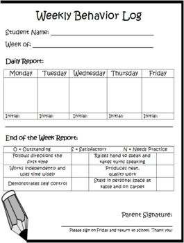 Daily / Weekly Behavior Log.  Could try this and send home in Friday Folders have parents sign and return. Parents are aware of how students are behaving.