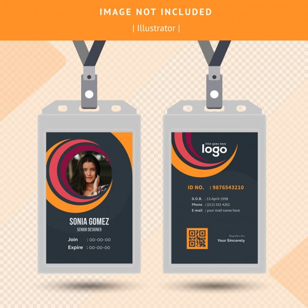 Circle Id Card Design Graphic Design Business Card Identity Card Design Business Cards Creative