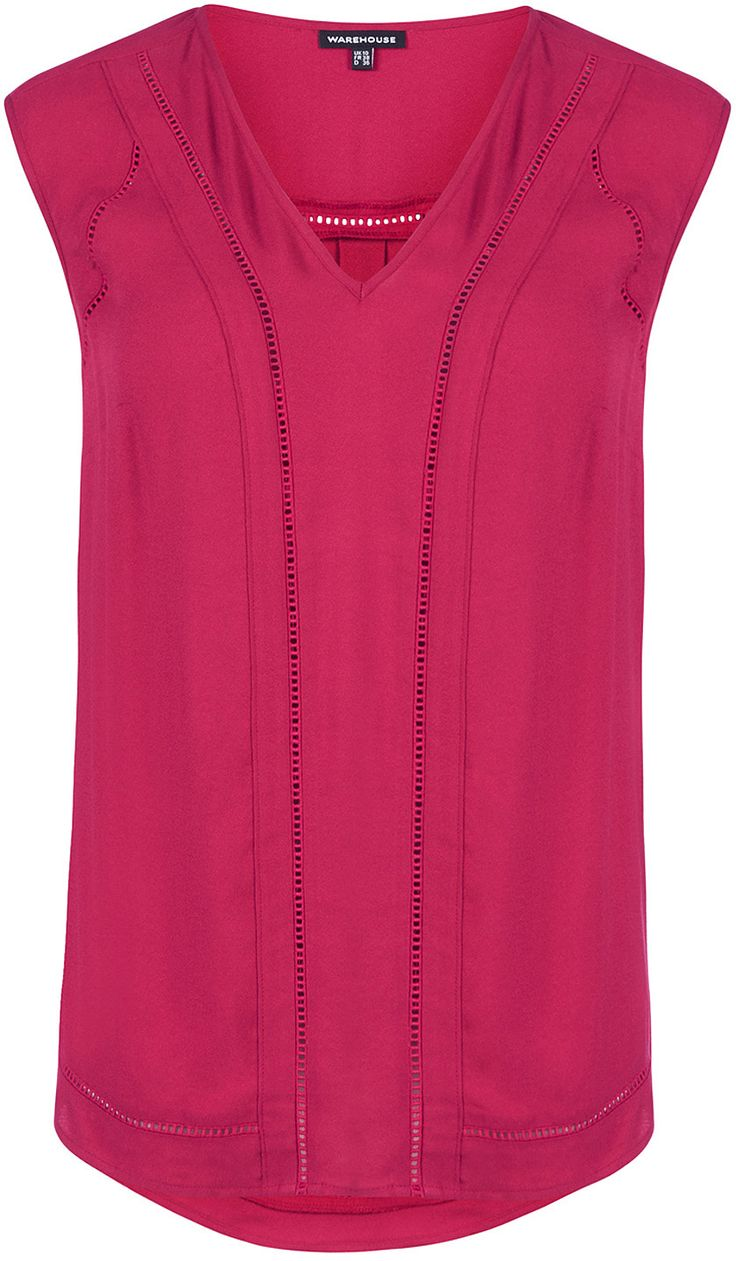 Womens raspberry top from Warehouse - £15 at ClothingByColour.com
