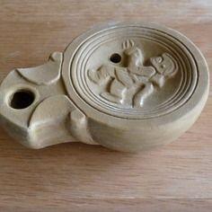 Lampe à huile romaine soldat du feu lampe à huile romaine
