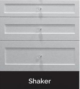 shaker style drawer front black hardware - Google Search