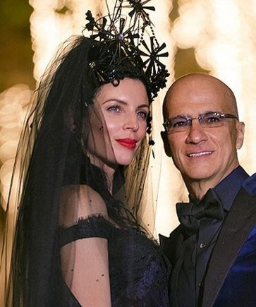 Liberty Ross and Jimmy Iovine get married with a goth Valentine's Day ceremony. See more here: