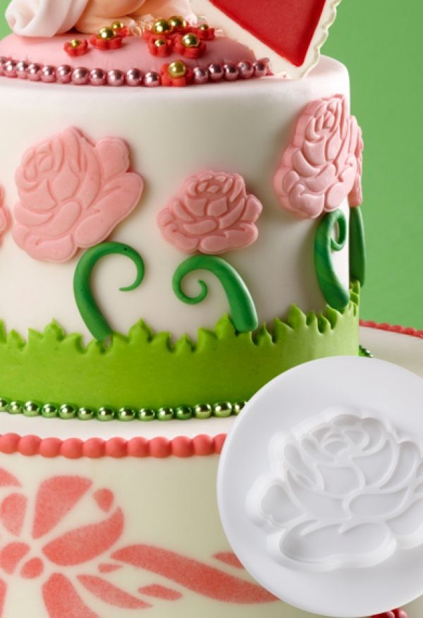 Dough - sugarpaste cutter ROSE 3D set 3pcs.