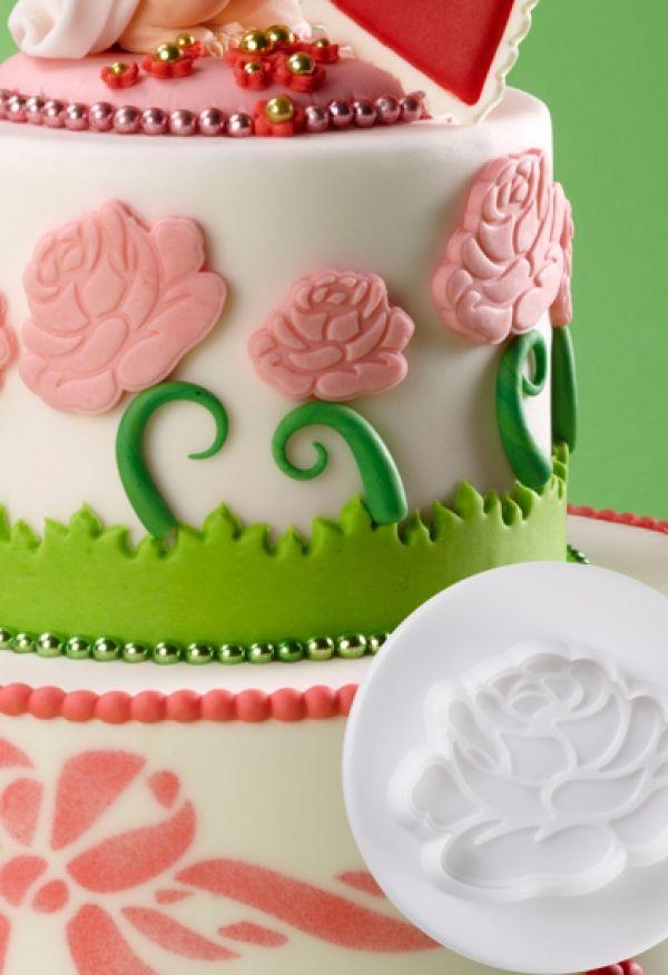 Dough - sugarpaste cutter ROSE 3D set 3pcs.