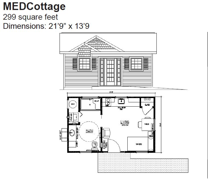 MEDCottage Floor Plan