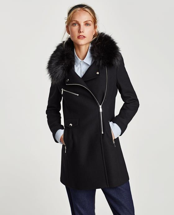 0f86eb4c Image 4 of TEXTURED COAT WITH ZIPS from Zara TEXTURED COAT WITH ZIPS ...