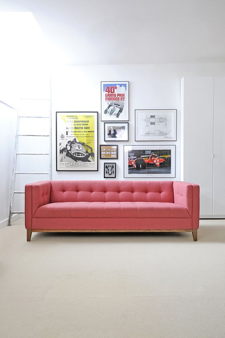 Gus modern the atwood sofa is being introduced in the new berkeley coral for