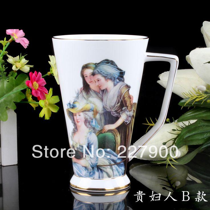 Белый кофе кружки онлайн большой костяной фарфор кружка керамика чай чаша кофе чаша молоко чаша - картина маслом белый рождения-дворянка кружки