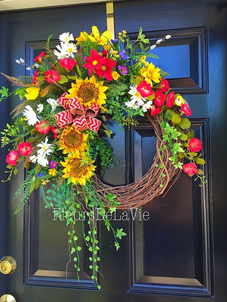 Summer Front Door Wreath: 17 Best Images About A FRONT DOOR FOR ALL SEASONS On