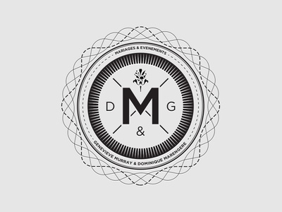 Dribbble - Logo 3 - Mariages et Evenements M by Simon Godbout