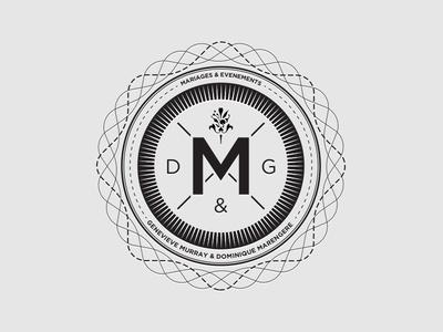 Dribbble - Logo 3 - Mariages et Evenements M by Simon Godbout