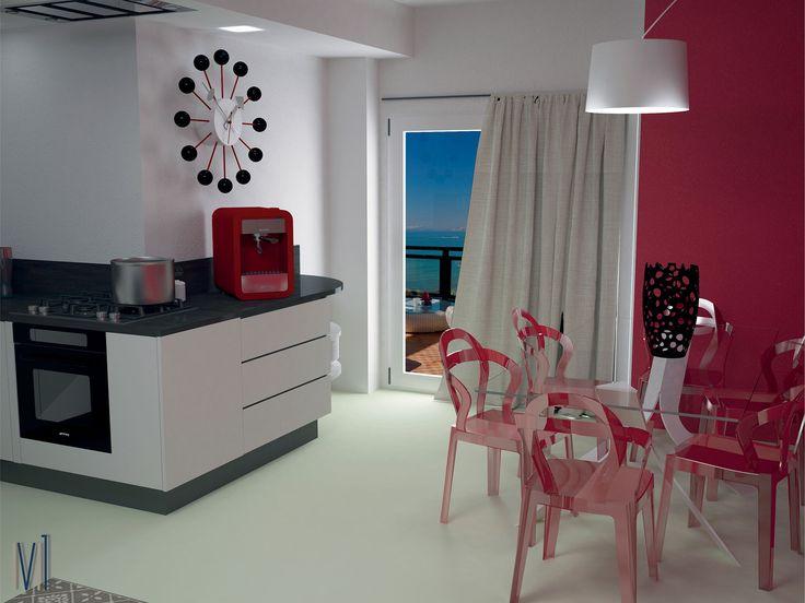 Summer kitchen! #13seven #interiordesign #homedesign #arredamentointerni #interiordecoration #furniture #homedecoration #colorkitchen #kitchen #kitchendesign #
