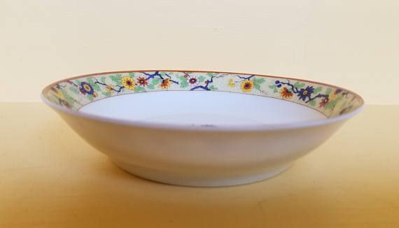 Chantilly by Haviland & CO China Small Bowl made in Limoges, France, Shleiger #940, Floral, Brown Trim