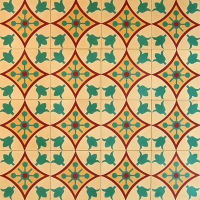 Madrona Collection Encaustic Concrete Tile In Andorra Pattern