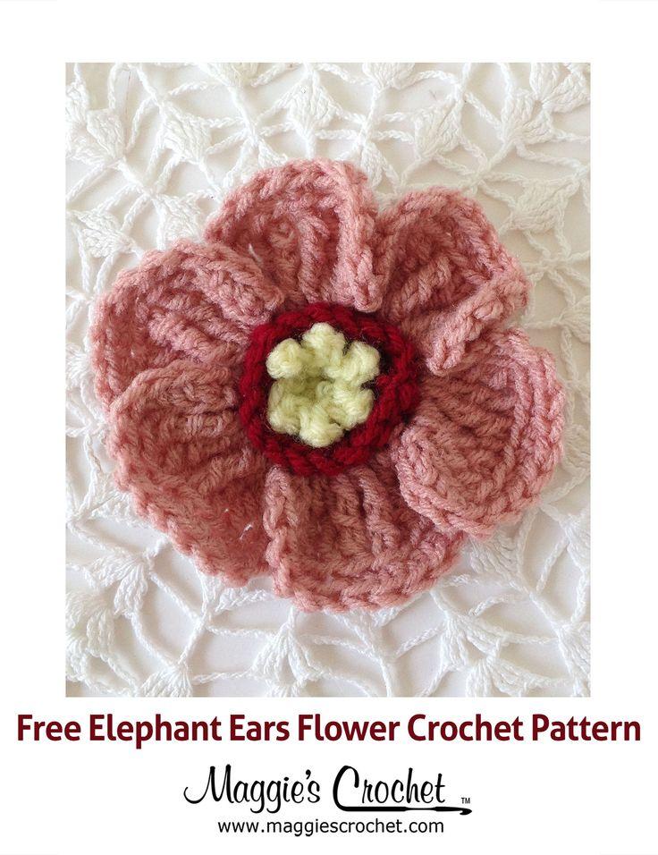 Free Crochet Pattern For Elephant Ears : 79 best images about Crochet Flowers on Pinterest ...
