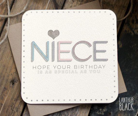 Nicht verjaardagskaart / verjaardag-kaart voor nichtje /