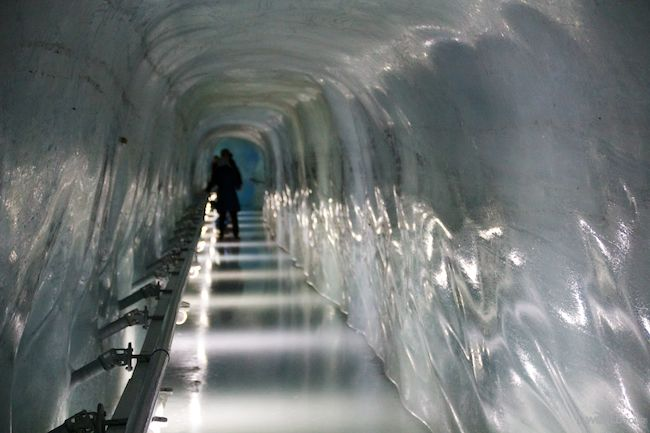 Ice Tunnel at the Top of Jungfrau, Interlaken Switzerland http://www.llworldtour.com/photo-essay-the-jungfrau-railway/