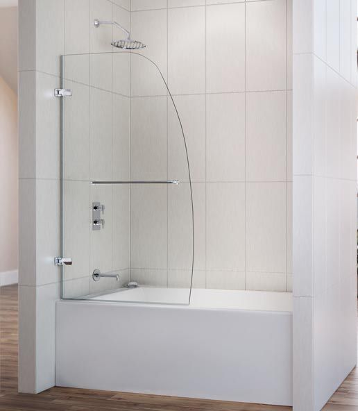 Shower Doors: What To Know Before You Buy: Partial Tub Enclosure